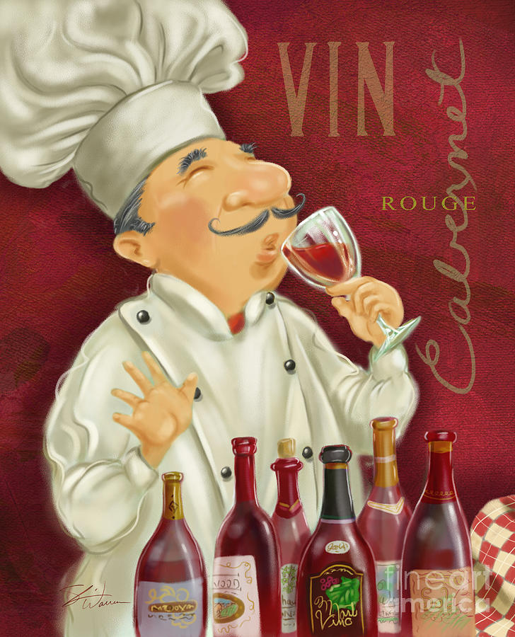 Wine Chef I Mixed Media