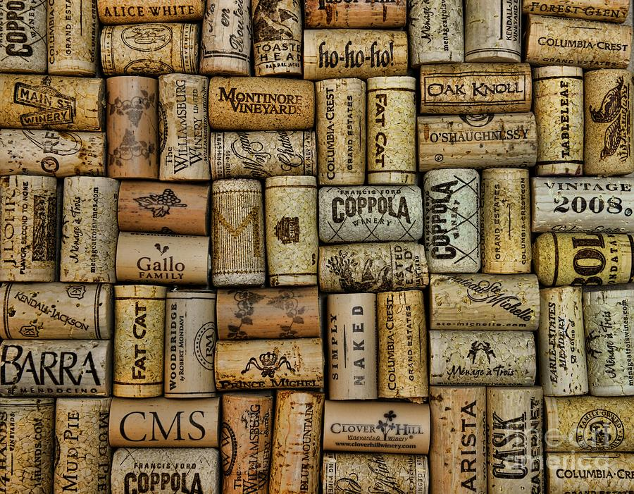 Wine Corks After The Wine Tasting Photograph  - Wine Corks After The Wine Tasting Fine Art Print