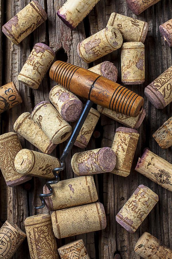 Wine Photograph - Wine Corks Celebration by Garry Gay