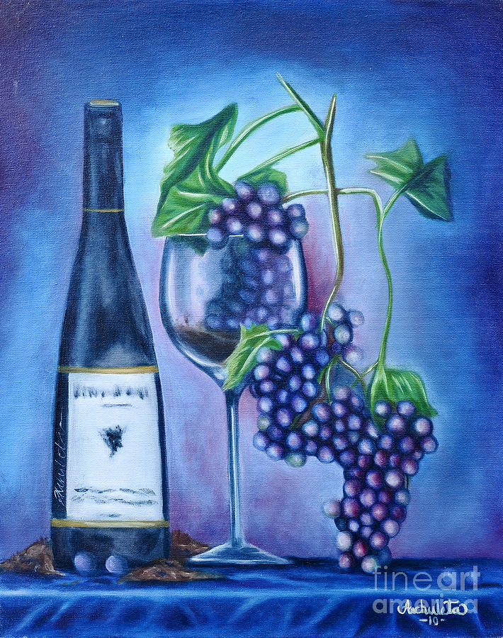 Wine Painting - Wine Dance by Ruben Archuleta - Art Gallery