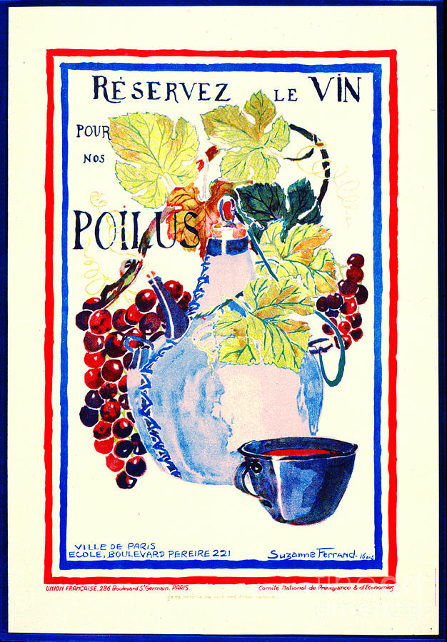 Wine For Soldiers 1916 Photograph
