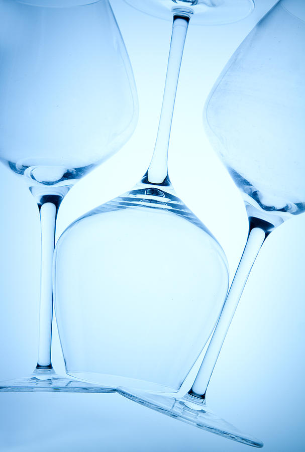 Wine Glasses 1 Photograph  - Wine Glasses 1 Fine Art Print