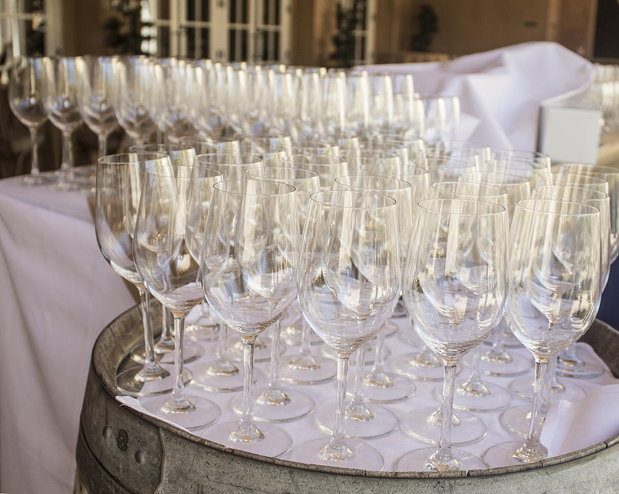 Wine Photograph - Wine Glasses by Dee  Savage