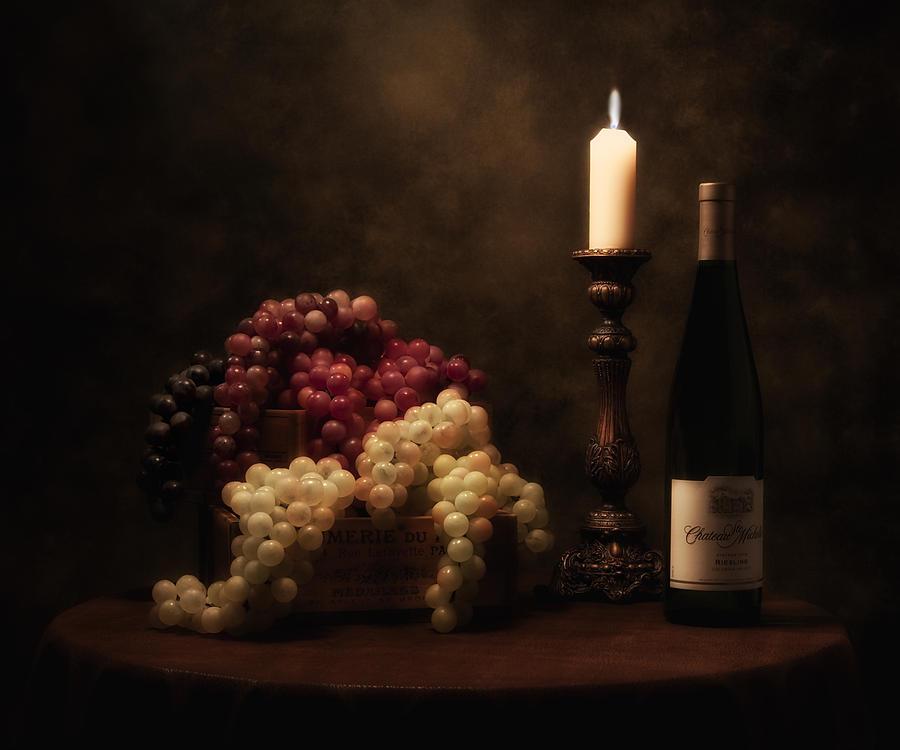 Alcohol Photograph - Wine Harvest Still Life by Tom Mc Nemar