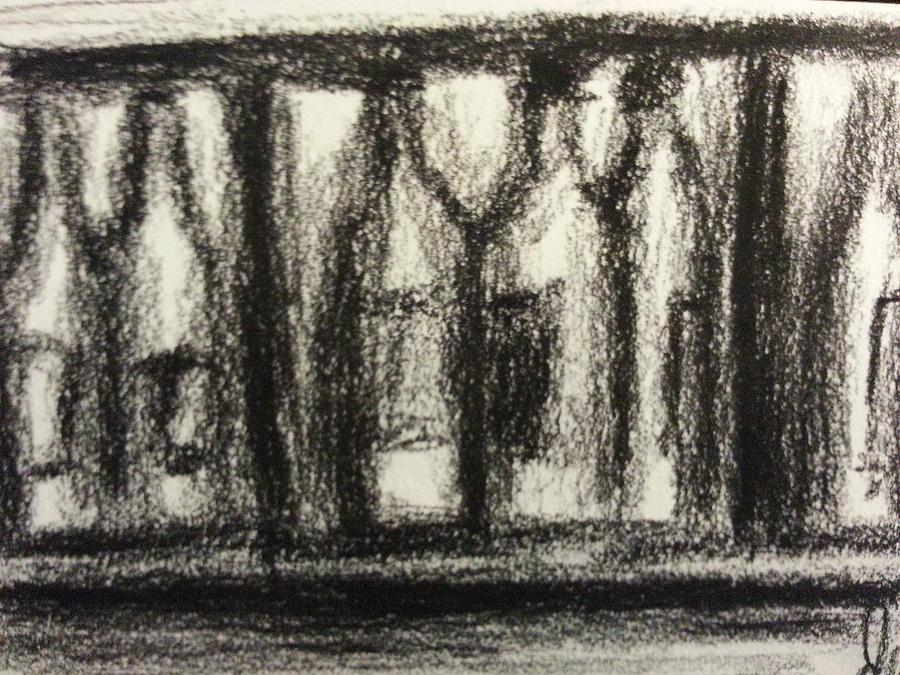 Wine In Cabinet Drawing