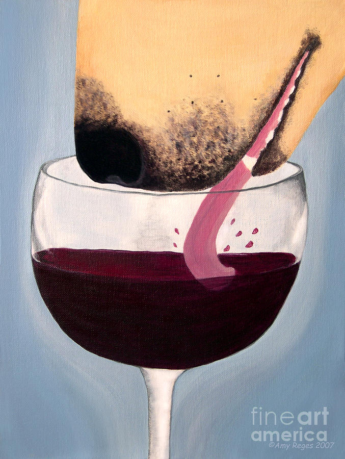 Wine Is Best Shared With Friends - Yellow Dog Painting