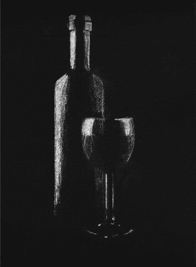 Wine Drawing  - Wine Fine Art Print