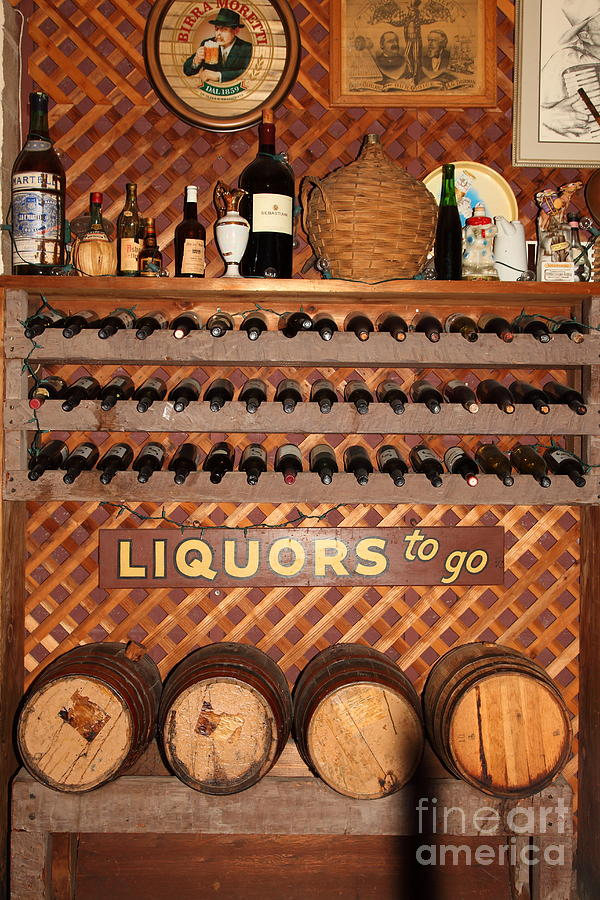 Wine Rack In The Cellar Room At The Swiss Hotel In Sonoma California 5d24452 Photograph