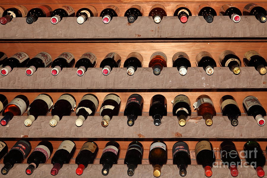 Wine Rack In The Private Dining Room At The Swiss Hotel In Sonoma California 5d24462 Photograph
