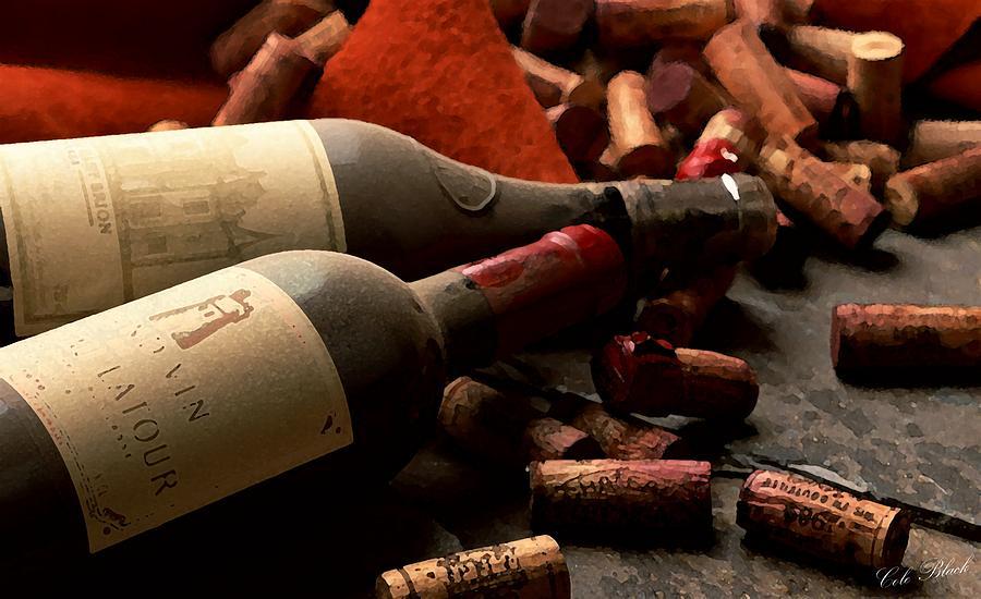 Wine Painting - Wine Tasting by Cole Black