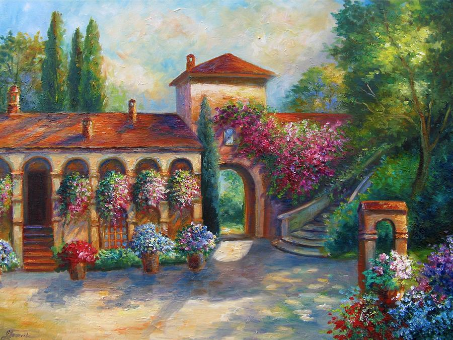 Winery In Tuscany Painting