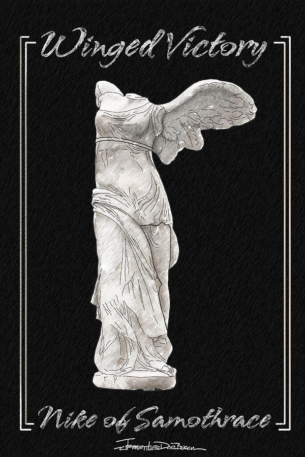 Statue Painting - Winged Victory - Nike Of Samothrace by Jerrett Dornbusch