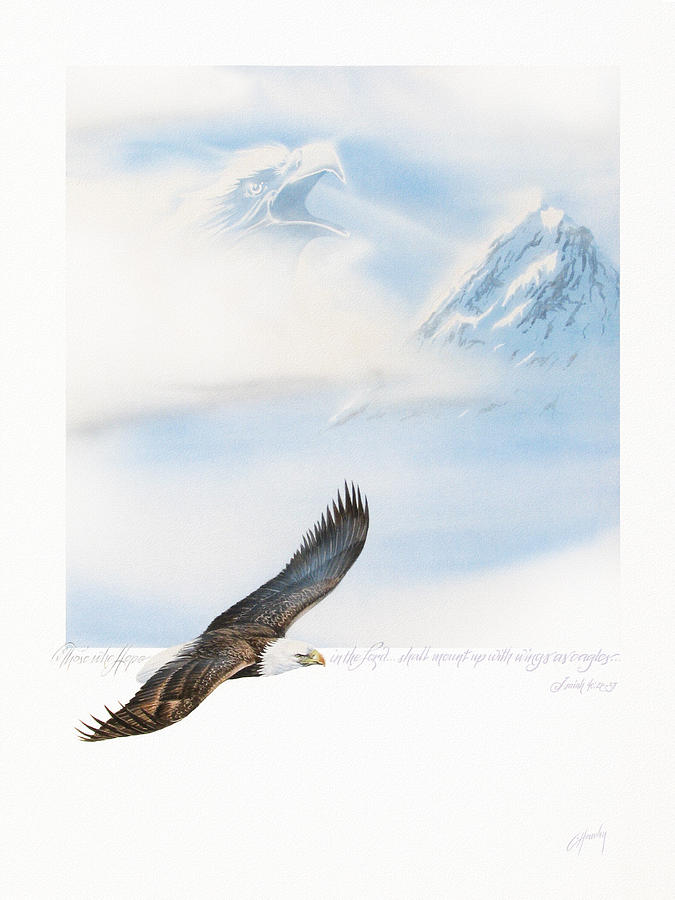 Wings As Eagles Painting