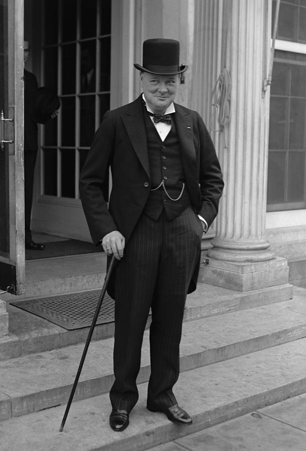 Winston Churchill Photograph  - Winston Churchill Fine Art Print