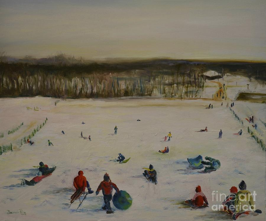 Winter At Holmdel Park Painting