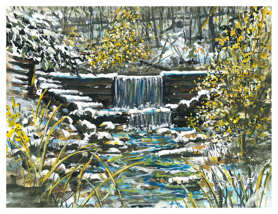Huron National Forest Painting - Winter At Iargo Springs by Robin  Pelton