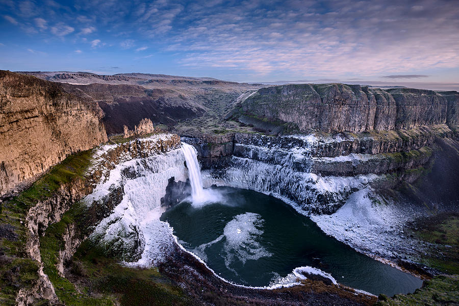 Winter At Palouse Falls Photograph