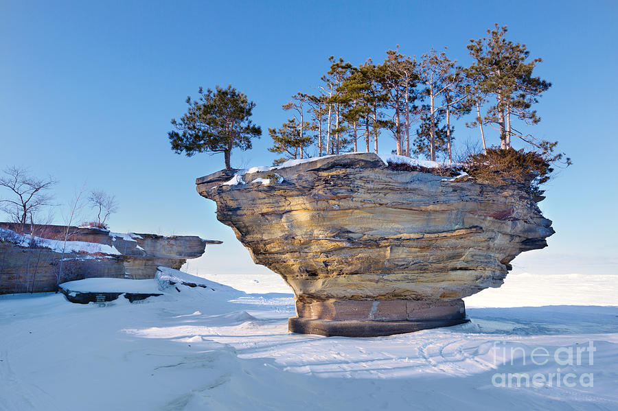 Winter At Port Austins Turnip Rock Photograph