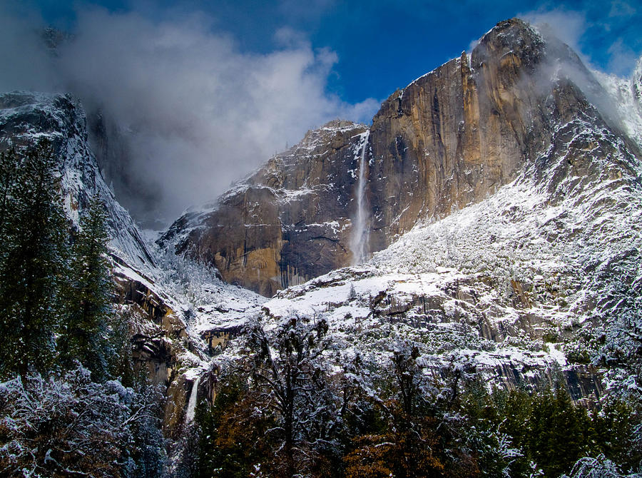 Winter At Yosemite Falls Photograph  - Winter At Yosemite Falls Fine Art Print
