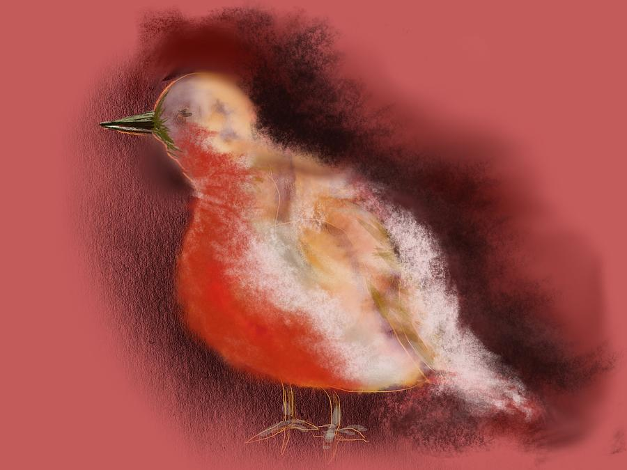 Winter Bird Digital Art  - Winter Bird Fine Art Print