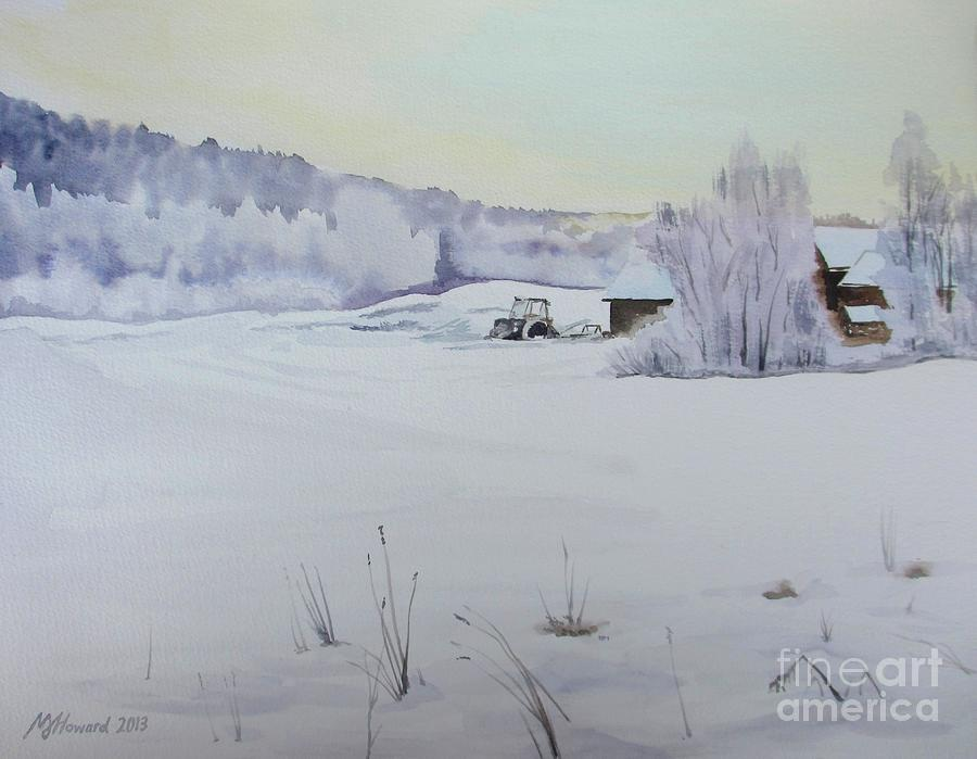 Winter Blanket Painting  - Winter Blanket Fine Art Print