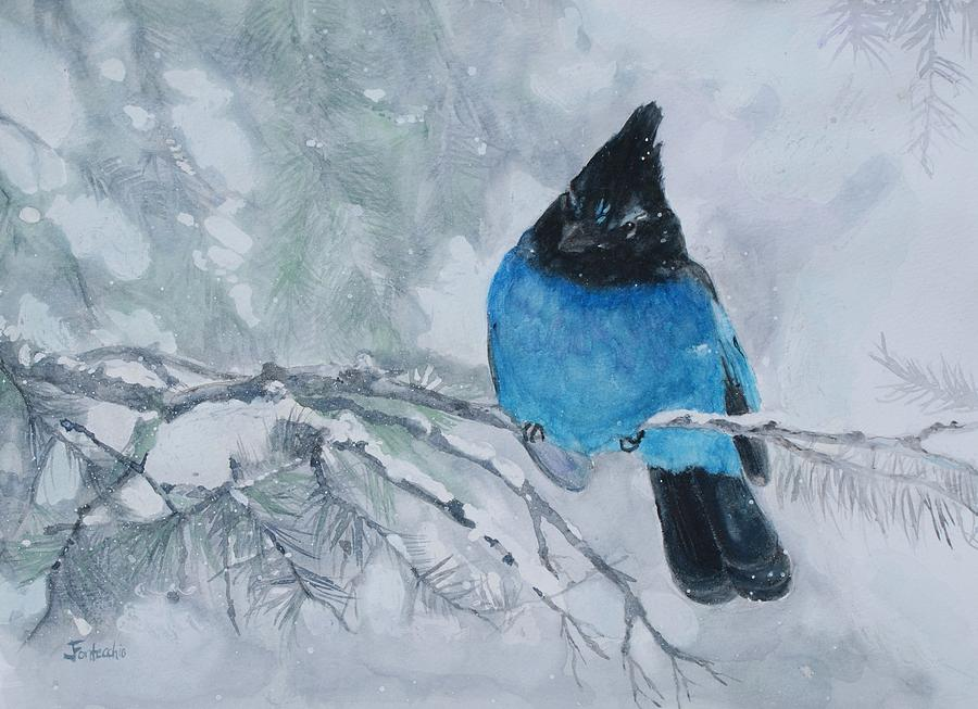 Winter Blues Painting  - Winter Blues Fine Art Print