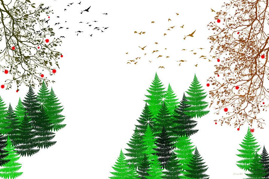 Winter Christmas Four Seasons Art Series Digital Art