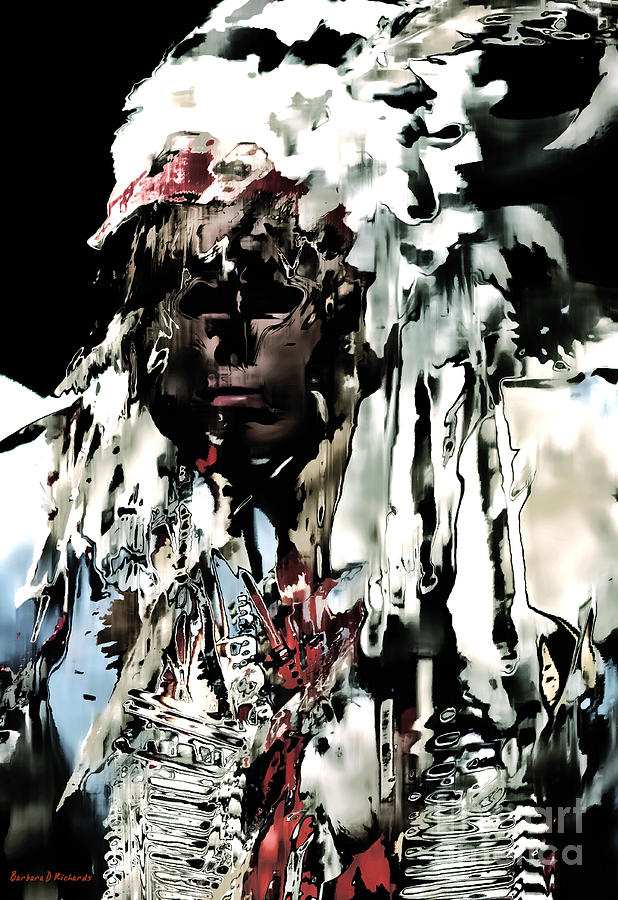 Native American Photograph - Winter Dance by Barbara D Richards