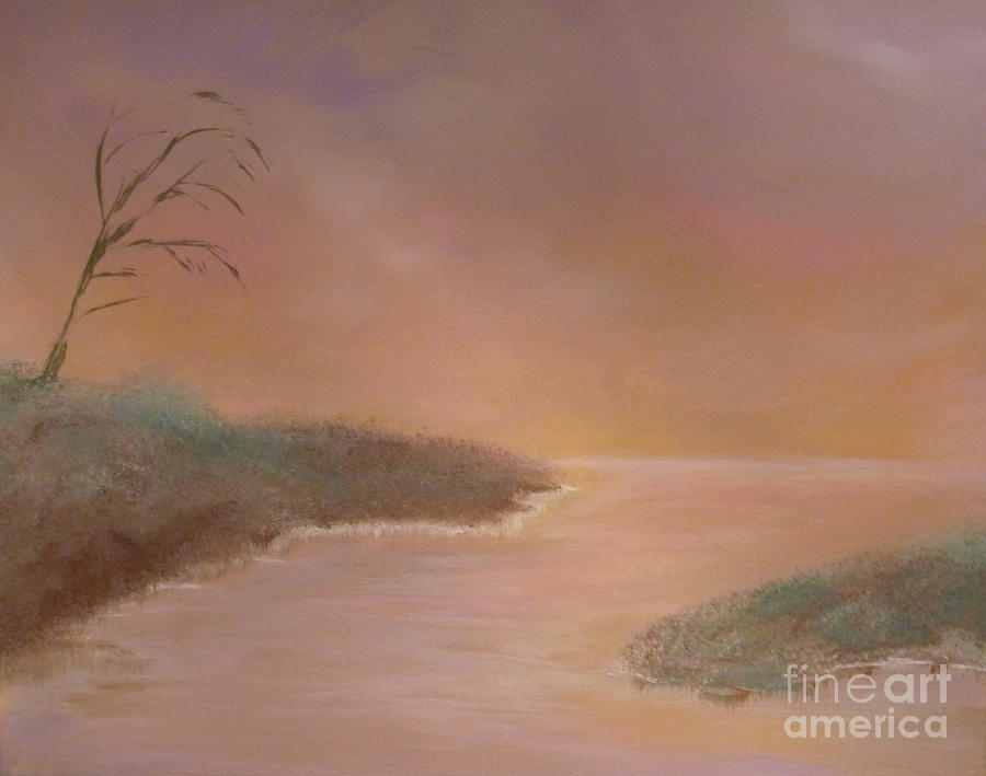 Winter Dawn Painting  - Winter Dawn Fine Art Print