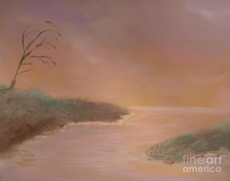 Winter Dawn Painting