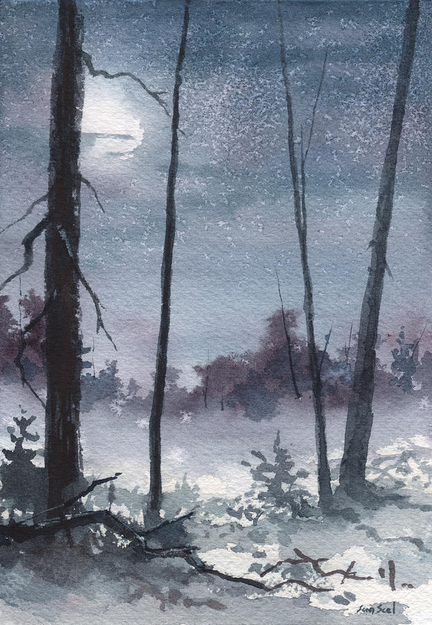 Winter Dreams Painting  - Winter Dreams Fine Art Print