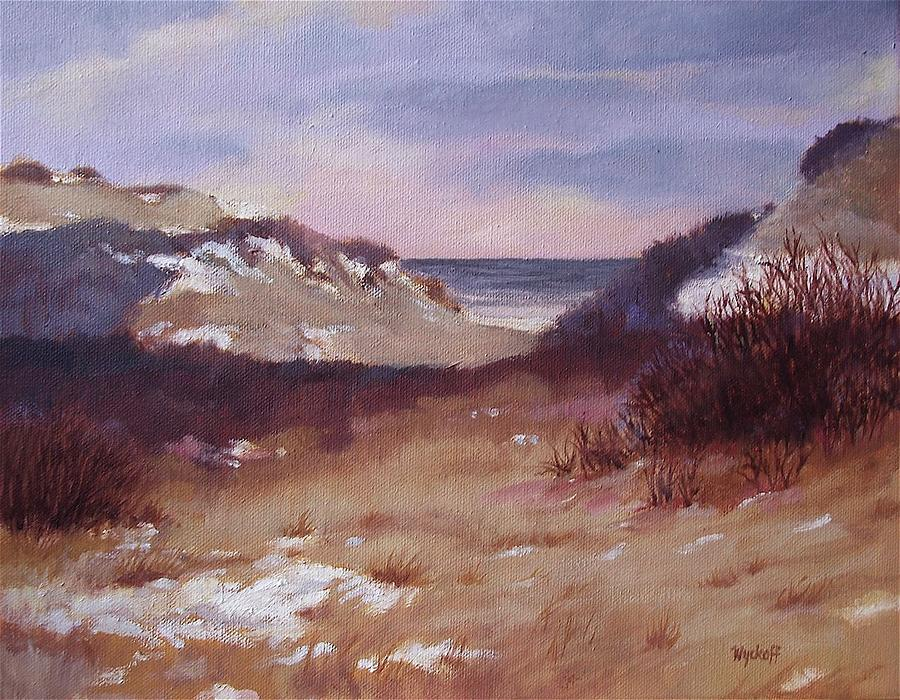 Winter Dunes Painting