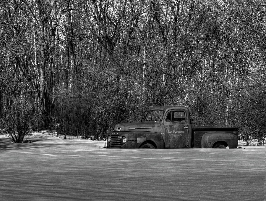 Winter Ford Truck 1 Photograph  - Winter Ford Truck 1 Fine Art Print