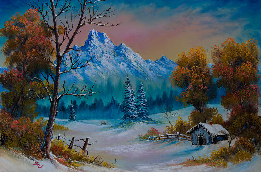 Winter Hideaway Painting  - Winter Hideaway Fine Art Print