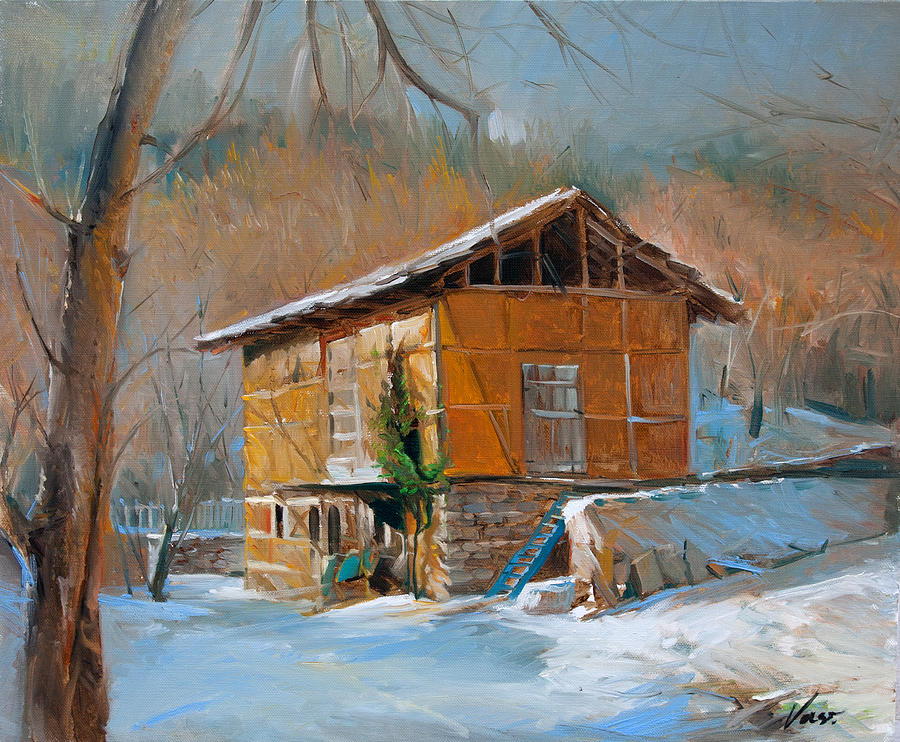 Winter In Delchevo Painting