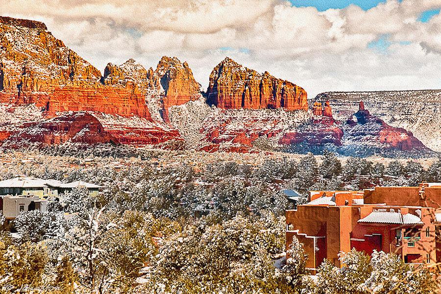 Winter In Sedona Arizona 2 Digital Art