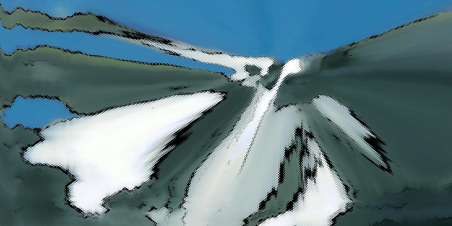 Winter In The Mountains Digital Art