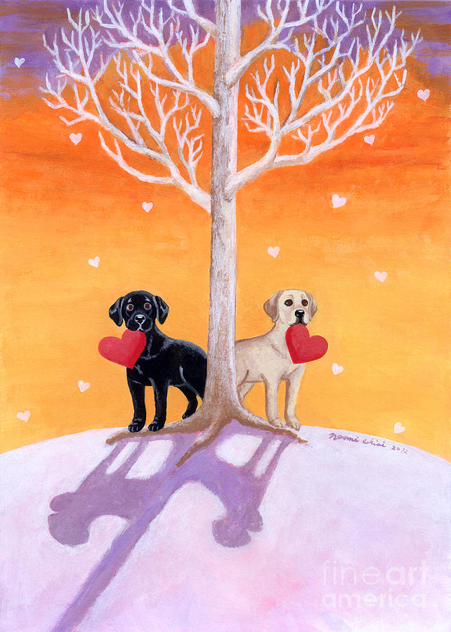 Winter Labradors Painting