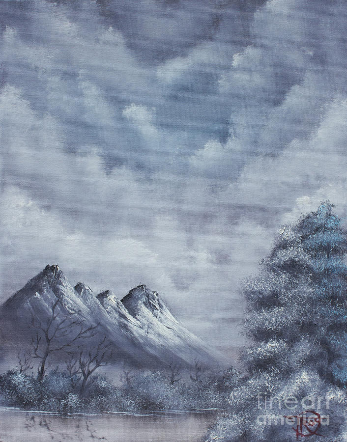 Winter Landscape Painting by Troy Wilfong