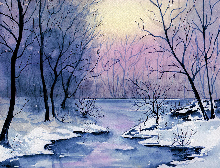 winter light painting by brenda owen