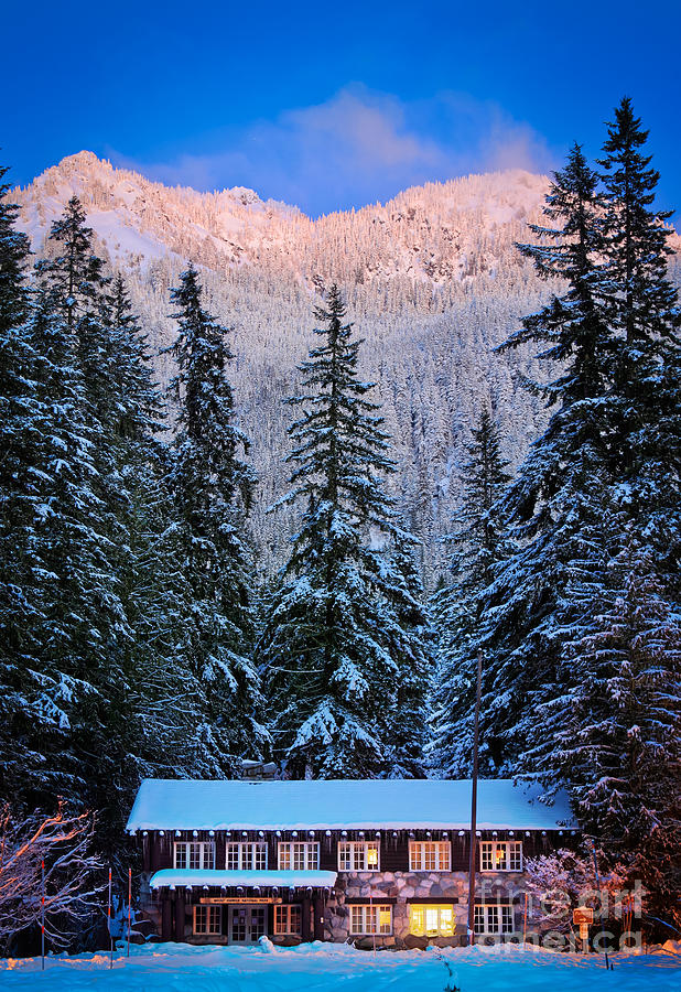 America Photograph - Winter Lodging by Inge Johnsson