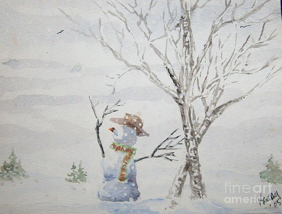 Winter Painting  - Winter Fine Art Print