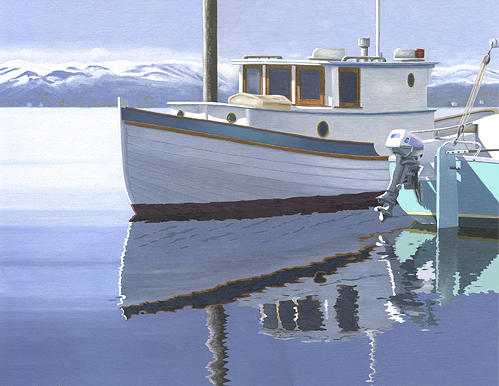 Winter Moorage Painting