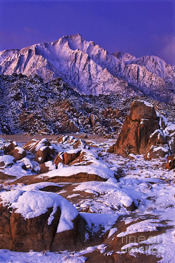 North America Scenic Photograph - Winter Morning Alabama Hills And Eastern Sierras by Dave Welling