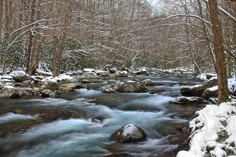 Winter mountain stream photograph by shari jardina for Jardina