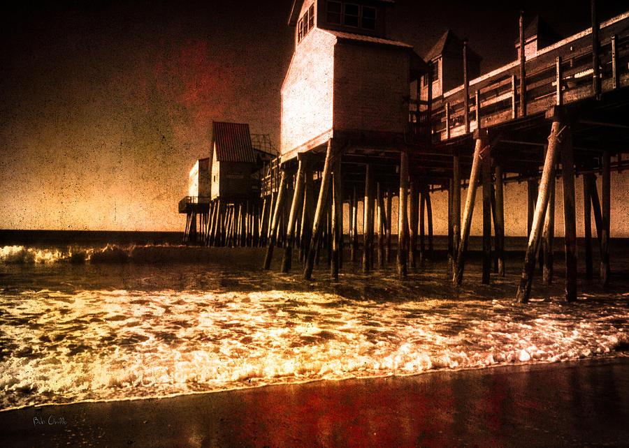 Seascape Photograph - Winter Old Orchard Beach by Bob Orsillo