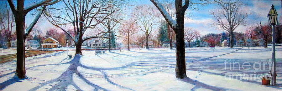 Winter On Sturbridge Common Painting