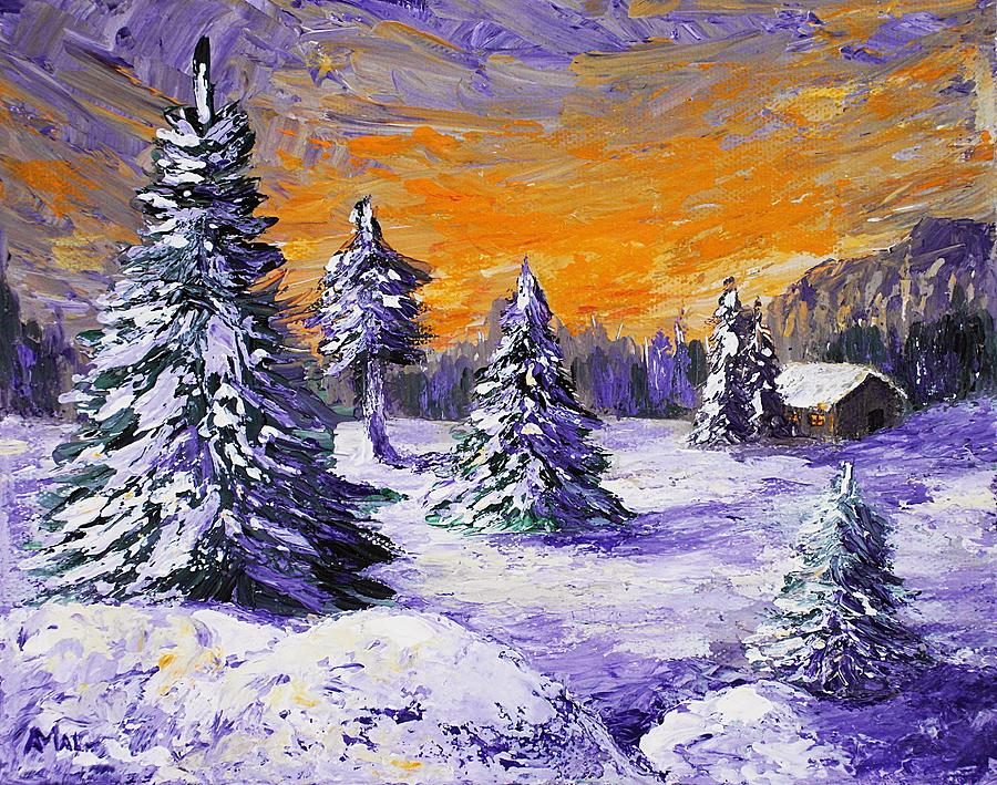 Winter Outlook Painting  - Winter Outlook Fine Art Print