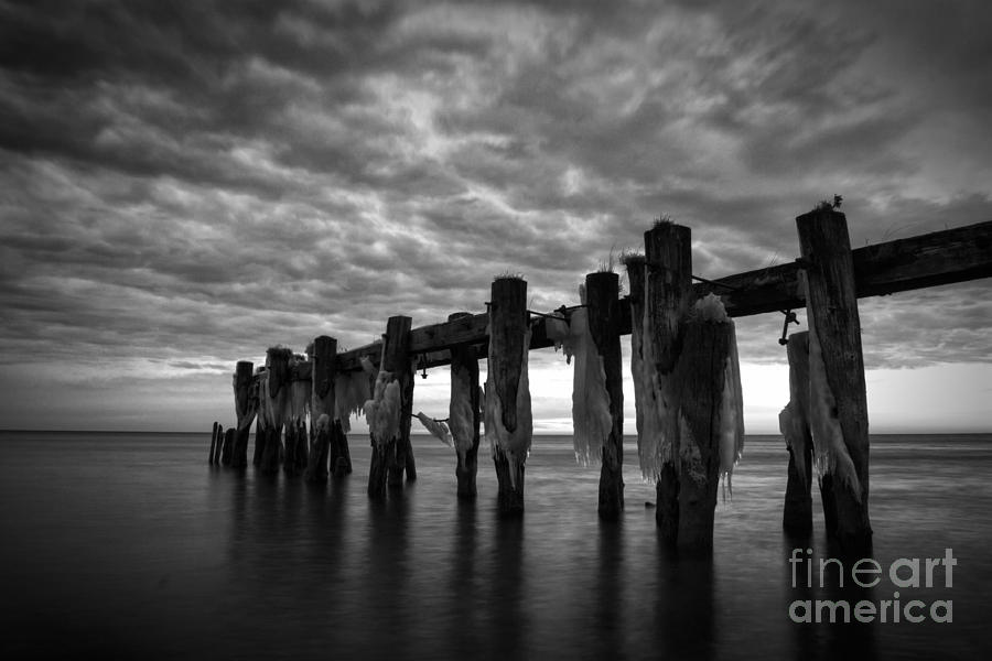 Winter Pier Photograph  - Winter Pier Fine Art Print