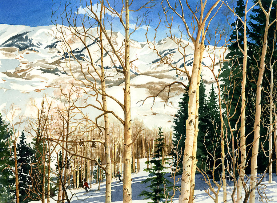 Winter Playground  Painting  - Winter Playground  Fine Art Print